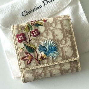 💐Dior embroidery vintage wallet excellent piece